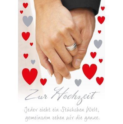 Klappkarte Hochzeit, DIN A4