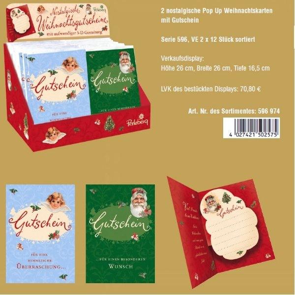 Klappkarte Weihnachten, Sortiment, DIN C6