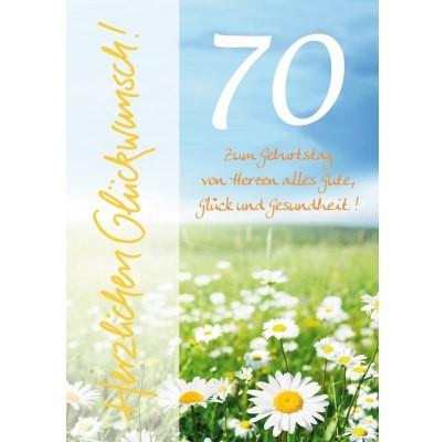 Klappkarte Zahlengeburtstag, 70.Geburtstag, DIN A4