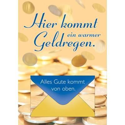 Klappkarte Geldbrief Gutschein, DIN A4
