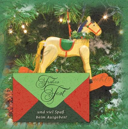 Klappkarte Weihnachten, Quadrat 15 x 15