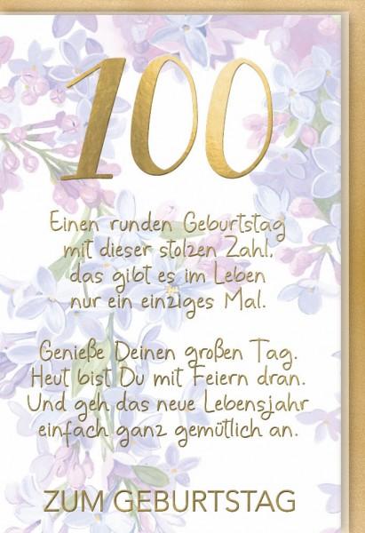 Klappkarte 100.Geburtstag, DIN C6