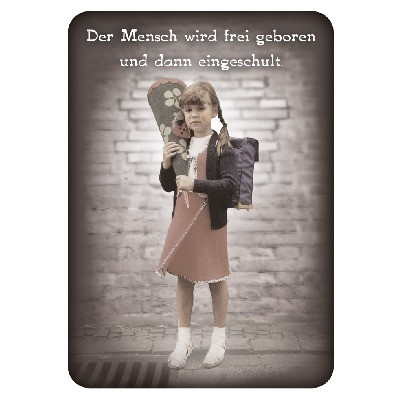 Postkarte Sprüche, DIN C6
