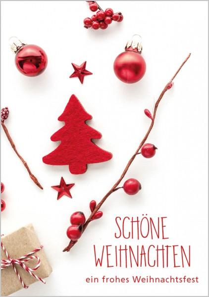 Klammerkarte Weihnachten, Mini 5,5 x 7,5
