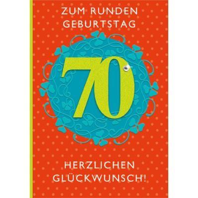 Klappkarte Zahlengeburtstag, 70.Geburtstag, DIN C6