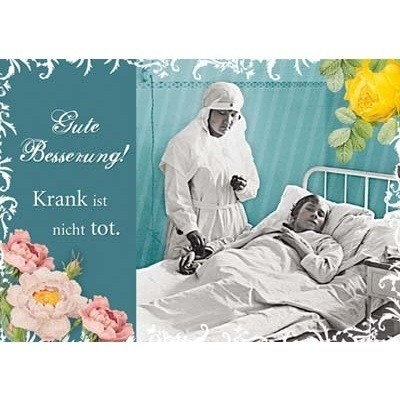 Postkarte Genesung, DIN C6