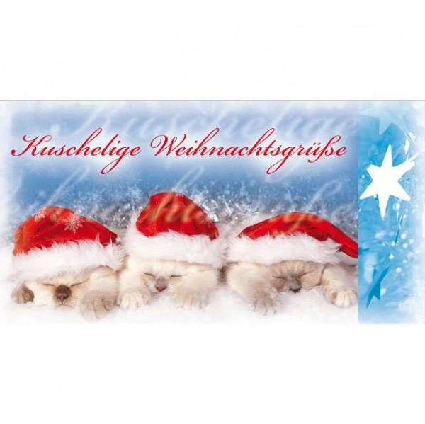 Klappkarte Weihnachten, DIN lang