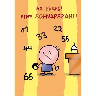 Klappkarte, Schnapszahl, DIN C6