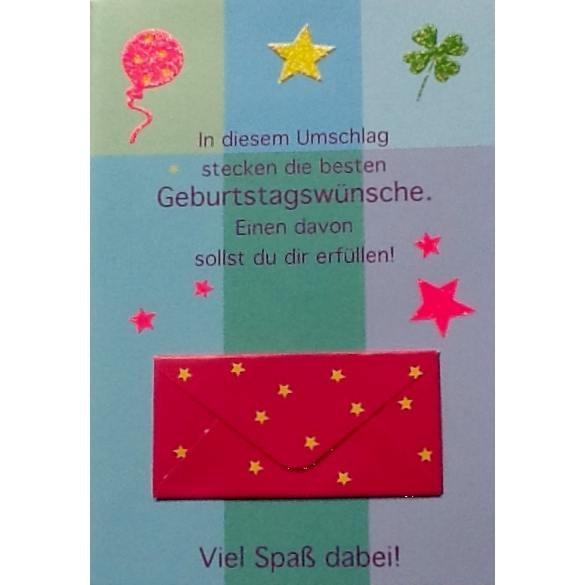 Klappkarte Geldbrief Gutschein, DIN C6