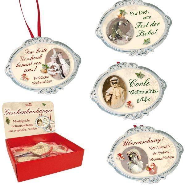 Klammerkarte Weihnachten, Sortiment, Mini 5,5 x 7,5