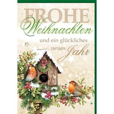 Klappkarte Weihnachten, Midi Hoch 8 x 11