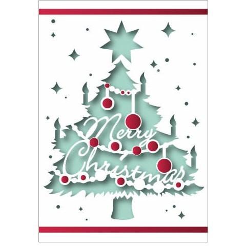 Klappkarte Weihnachten, Laserschnitt, DIN C6
