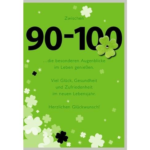 Klappkarte Zahlengeburtstag, 90.Geburtstag, DIN C6