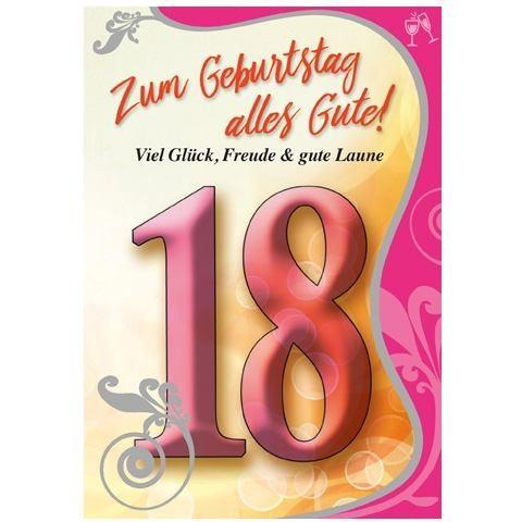 Klappkarte Zahlengeburtstag, 18.Geburtstag, DIN C6