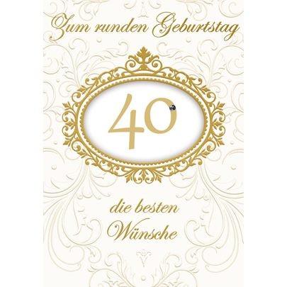 Klappkarte Zahlengeburtstag, 40.Geburtstag, DIN C6