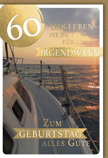 Klappkarte Zahlengeburtstag, 60.Geburtstag, DIN C6