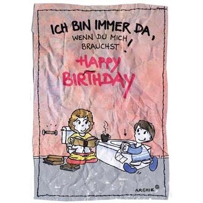 Klappkarte Geburtstag, DIN C6