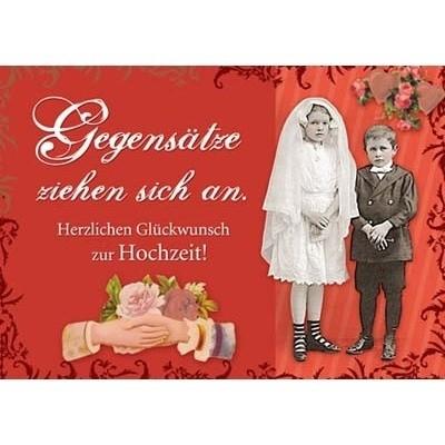 Postkarte Hochzeit, DIN C6