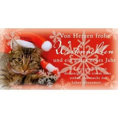 Postkarte Weihnachten, DIN lang