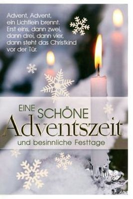 Klappkarte Weihnachten, Advent, DIN C6