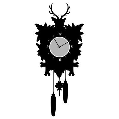 Deko-Aufkleber, Uhr mit Wandtattoo, Tattoo 29 cm x 54 cm, Uhrdurchmesser 10,5 cm